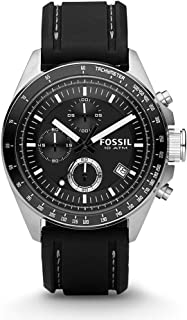 Men's CH2573IE Decker Stainless Steel Chronograph Watch With Black Silicon Band