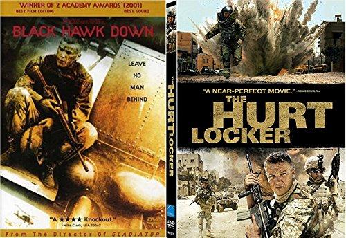 Hurt Locker & Black Hawk Down DVD War Courage Movie Bundle Set