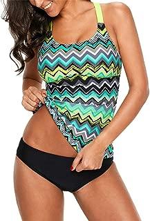 Women's High Waisted Swim Shorts Bikini Swimsuits Side Slit Pull Tie Tankini Skirted Bottom