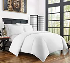 Duvet Cover Set With Zipper Closure 3pc Duver Cover Set Oversized Super King (120'' x 98'') Size With Corner Ties,100% Egyptian Cotton 1000 Thread Count (Oversized Super King Size White Solid)