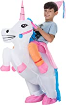 TOLOCO Inflatable Unicorn Rider Costume | Inflatable Costumes For Adults Or Kids | Halloween Costume | Blow Up Costume