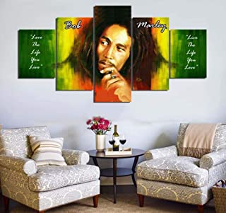 bob marley 5 piece canvas