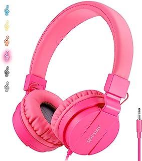 سماعات أذن ONTA gorsun قابلة للطي على الأذن قابلة للتعديل خفيفة الوزن للأطفال الهواتف المحمولة iPhone والكمبيوتر المحمول M...