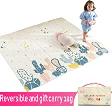 Infant Shining Baby Play Mat, Reversible Foldable Mat 2x1.8 M, Extra Large Waterproof and Antislip Rug (200 * 180 * 1cm, Cactus)