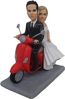 ooak muñeca de arcilla polimérica bebé Moto vespa Novia y novio para motociclistas Pareja o amantes de la motocicleta Past...
