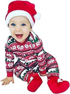 Costume De Chapeau Tenues Pantalon JoJody Vetement Deguisement Noel Bebe Garcon Ensemble 0-24 Mois,3Pcs B/éB/é Gar/çOns Filles Barboteuse De No/ëL