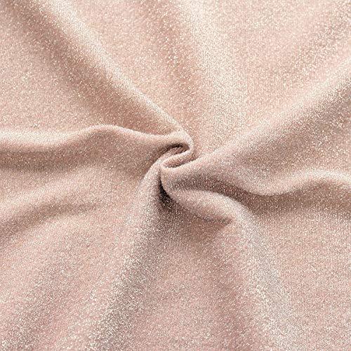 STOFFKONTOR Lurex Jersey Stoff Glitter Meterware Rosé