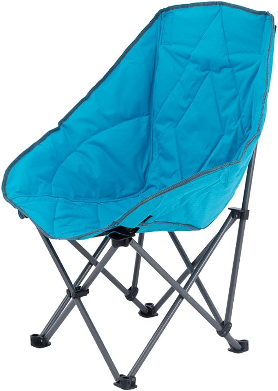 Anna Kletterstuhl Klappstuhl im Freien gesteppter Lehnsessel-beilufiger fauler Stuhl-Sofa Portable Sun-Ruhesessel-Ausflug-Reisestuhl 112kg Grün und Blau (Farbe   Blau)