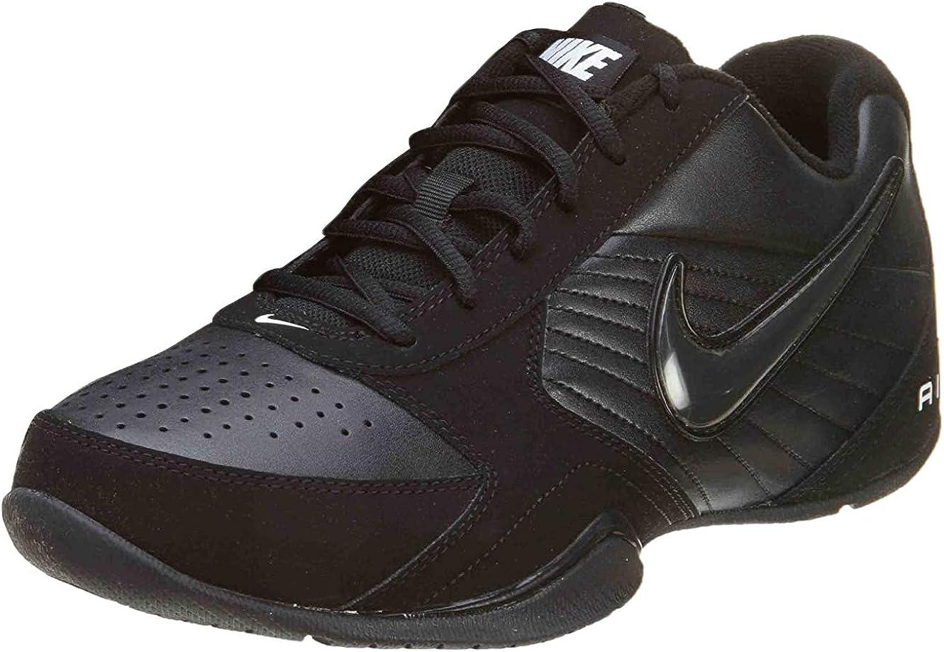 Nike Mens Air Baseline Low Basketball Shoes-White/White-Metallic