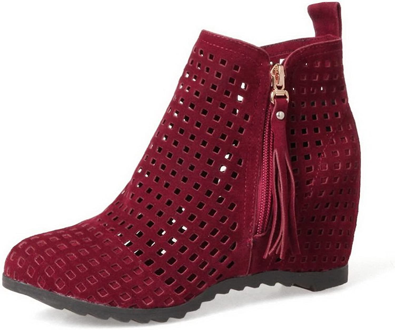 AdeeSu Womens Light-Weight Hollow Out Retro Urethane Boots SXC02395