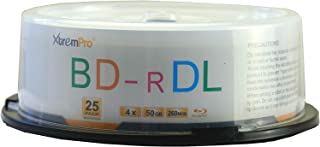 XtremPro Bd-R DL 4X 50GB 260min Double Layer Blu-Ray 25 Pack Blank Discs in Spindle - 11129