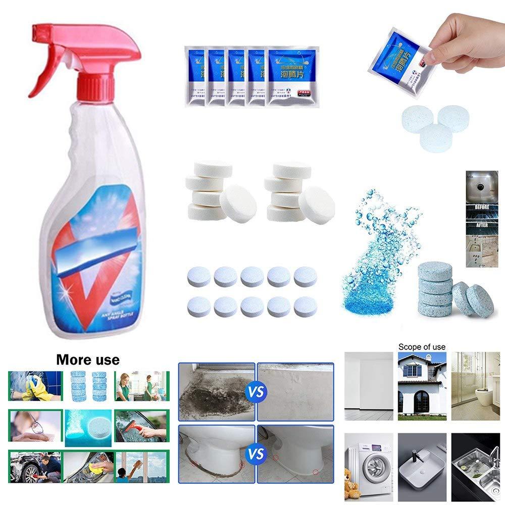 TINIX - Limpiador de suelos y ventanas, tabletas efervescentes, limpiador de regaderas, descalcificador, tabletas de descontaminación, potente limpiador - 1 unidad: Amazon.es: Hogar