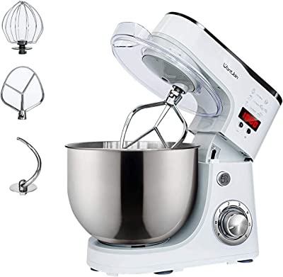 WantJoin Stand Mixer,Kneading Dough mixer with Timer,Digital display Professional Kitchen Electric Mixer 1000W With 5L barrel