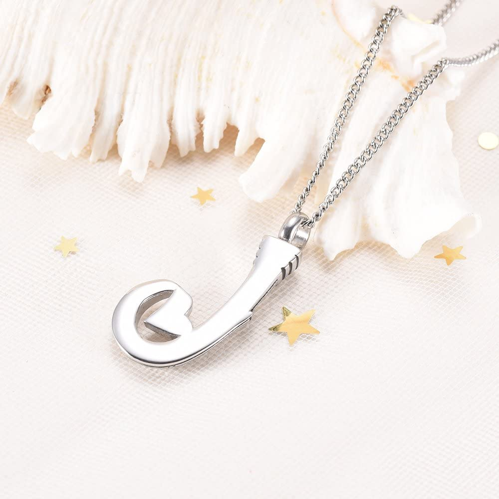 DIYjewelry Inc Fish Hook Cremation Urn Necklace for Ashes Fishing in Heaven Ashes Keepsake Urn Memorial Jewelry