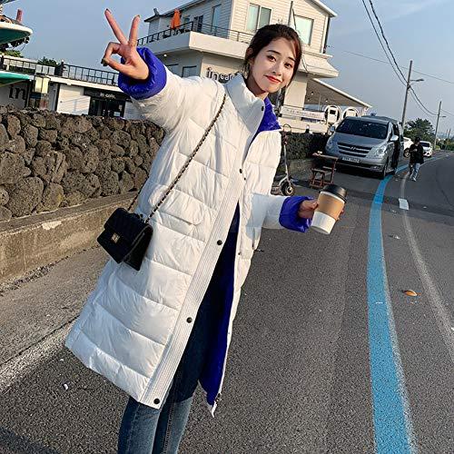 GDRFHJZ Winterjas Dames Jassen Katoen Gewatteerde Kleding Vrouwen Koreaanse Losse Bf Lange Parkas Jas