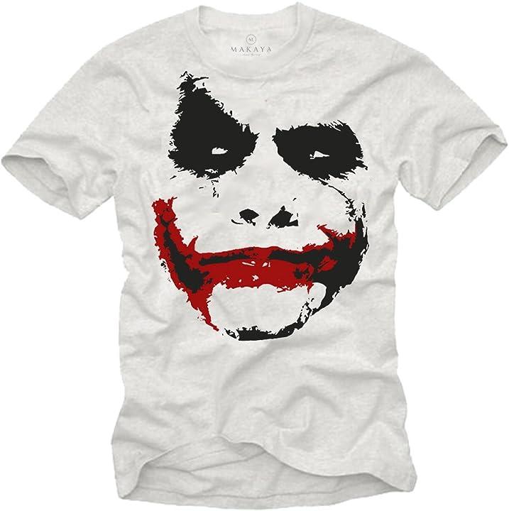 Maglietta joker makaya maglietta uomo bianco - t-shirt joker HTS_171_S