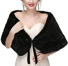 Women Winter Classic Faux Fur Capelets Shawls Soft Wedding Bridal Shoulder Cape Wraps Tippet Stoles