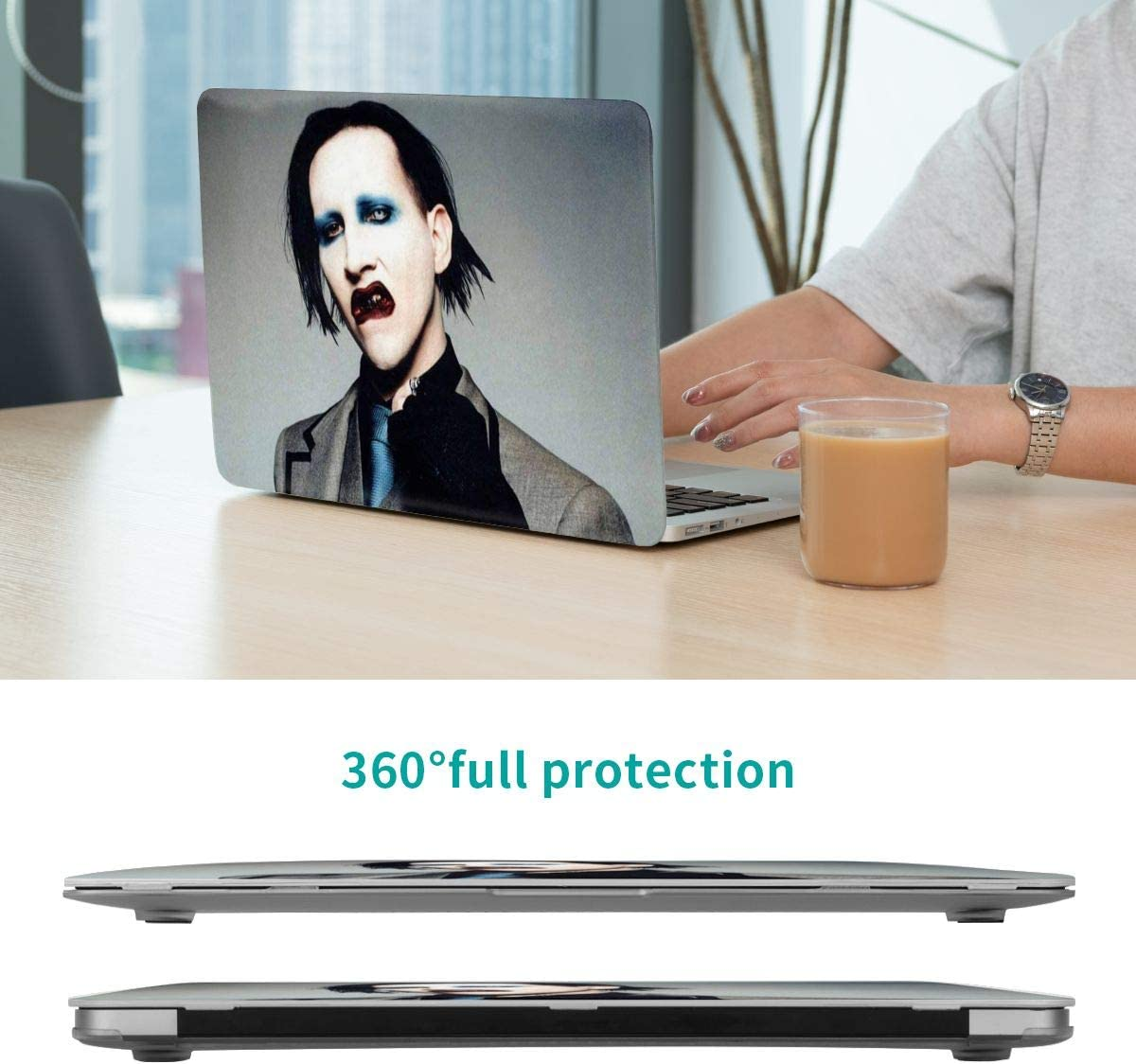 KarleDeal Marilyn Manson Fashion Laptop case New 13 Man Women Personalized Touch 15 Protective case White air13