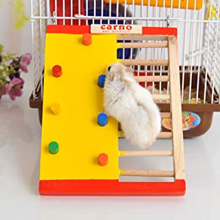 Climbing Ladder Toy Wood Toy for Pet Dwarf Hamster Gerbil Rat Chinchillas Guinea Pig Squirrel Small Animal Cage Toy
