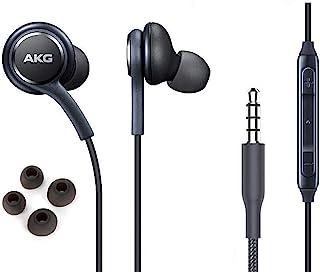 ElloGear - Auriculares estéreo para Samsung Galaxy S10 S10e Plus, diseño de AKG, con micrófono y Botones de Volumen (Gris)