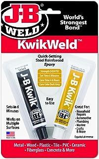 J-B Weld Company 8276 6 Pack 2 oz. KwikWeld Quick Setting Steel Reinforced Epoxy Twin Tube, Dark Grey