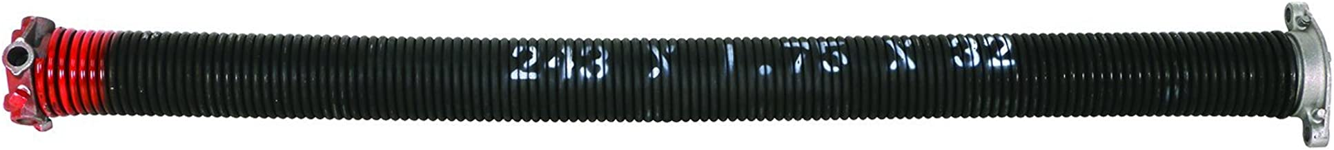 """Prime-Line Products GD 12228 Prime Line Right Handed Torsion Spring, 1-3/4 In Id 32 In L, 0.243"""" x quot x quot, Red"""