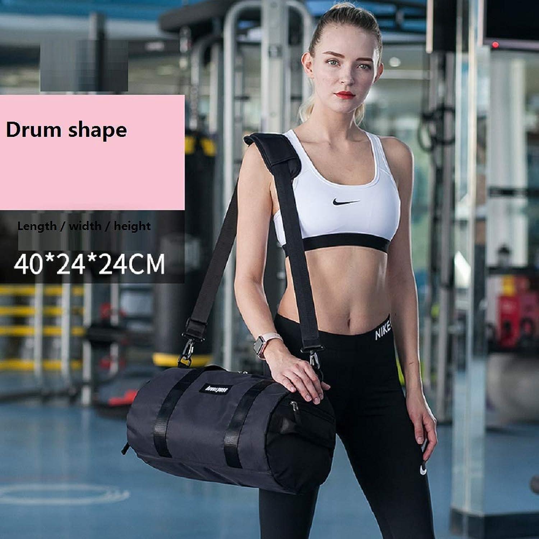 Fitness-Tasche, Damentasche Flut Yoga-Tasche, tragbare Sporttrainingstasche, trockene und nasse Trennung Schwimmen Tasche Reisetasche (40 X 24 X 24) (schwarz)