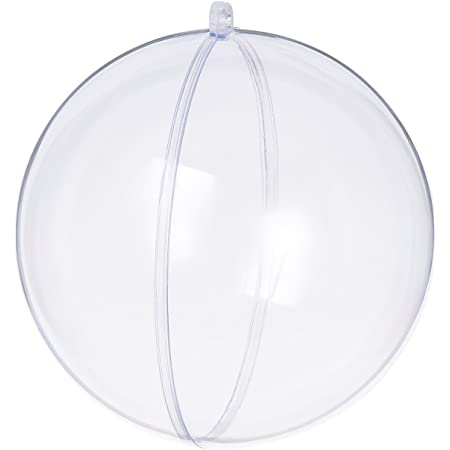 S SEEKINGTAG Clear Fillable Ornaments Ball - Pack of 12 Individual 120mm Ornaments