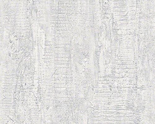 Schöner Wohnen 944263 Vliestapete Concrete & More Tapete in Vintage Beton Optik, Hellgrau, Weiß, 10,05 m x 0,53 m