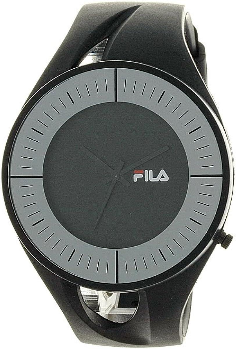 Fila FL38011004 - Reloj analógico, Unisex, con Correa de plástico, Color Negro