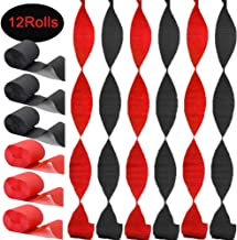 Healifty 5 Rolls Kids Crepe Paper Streamers DIY Wavy Paper Flower for Craft Birthday Wedding Festival Party Valentines Day Decorations