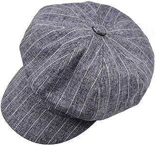 Wild Casual Beret Beret Men And Women Retro Painter Hat England Lattice Octagonal Hat Accessories (Color : Light blue, Siz...