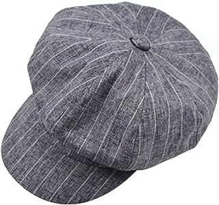 Wild Casual Beret Beret Men and Women Retro Painter Hat England Lattice Octagonal Hat (Color : Light Blue, Size : M (56-58cm))