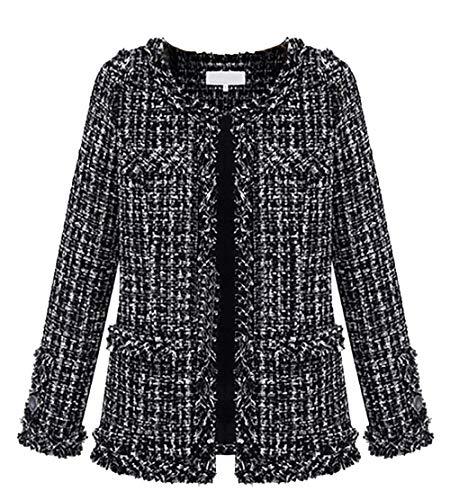 Mantel dames losse casual klassiek geruit jongens chic cardigan lente herfst lange mouwen tweed slim fit young outherwear jas