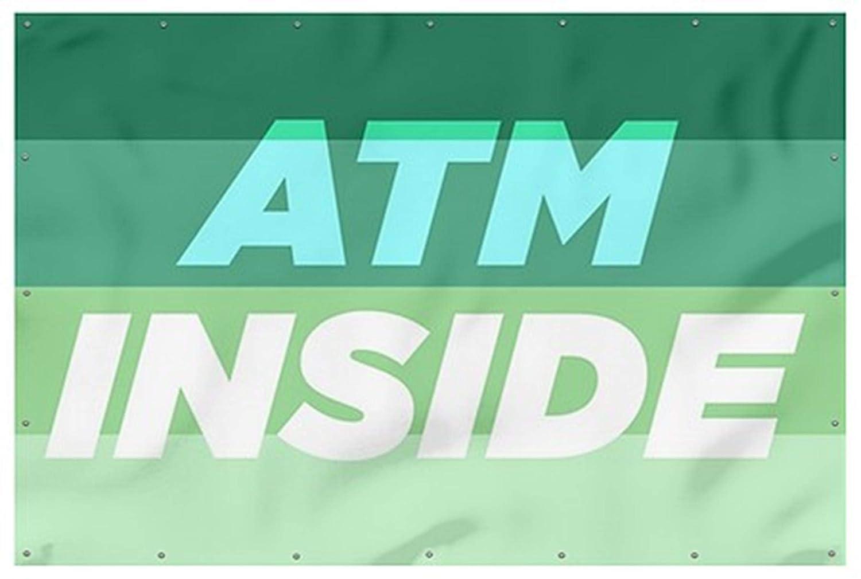 ATM Inside 9x6 Modern Gradient Wind-Resistant Outdoor Mesh Vinyl Banner CGSignLab
