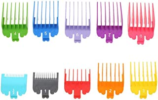 """10 Pcs Professional Colorful Hair Clipper Combs Guides, Wahl Replacement Guards Set #3171-500 – 1/8"""" to 1"""" Fits for All Wahl Clippers/Trimmers, Radom Colors"""