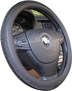XiXiHao Ice Silk Steering Wheel Cover Auto Sport Car Styling for Diameter Men Women Black