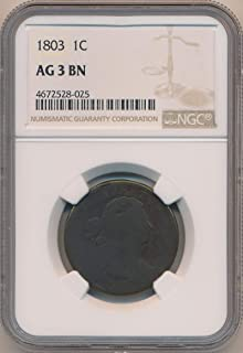 1803 P Large Cent Cent AG 3 Brown NGC