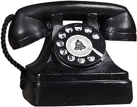 1 Pack Antique Phone Props - Creative Vintage Decorative Phone - Cafe Bar Window Decoration Home Decor - Microphone Unremovable(Black)