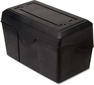 ADVANTUS 4 x 6 Index Card Holder, 300 Card Capacity, Black (45002)