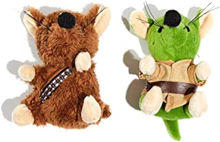 Silver Paw Star Wars Chewbacca and Yoda Mice 2 Piece Cat Toy Set
