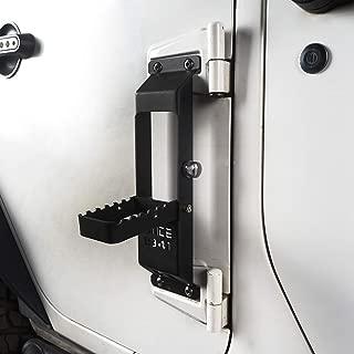 Hooke Road Jeep Wrangler Door Hinge Step Foot Pedal w/Since 1941 Sign for 2007-2018 Jeep Wrangler JK & JKU