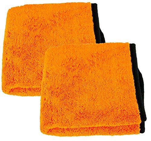 Liquid Elements 2X Orange Baby Trockentuch Mikrofasertuch 800 GSM 40 x 60 cm