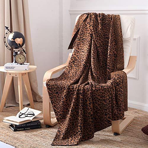 GXFCQKDSZX Decoración del hogar de la Manta de la Toalla del Punto del Leopardo de la Manta del sofá