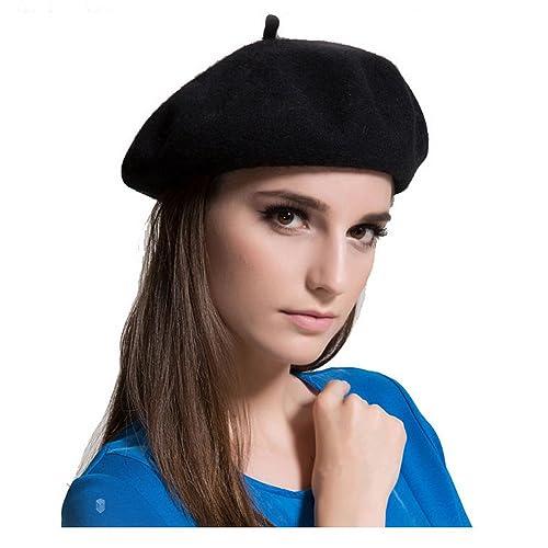 e947e6212e578 MAYMII Wool Black Beret Hat - French Beret