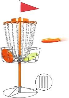 Topeakmart 18チェーン ディスク ゴルフゴール スポーツ ディスク バスケット 練習 アウトドア スチールディスク ゴルフディスク