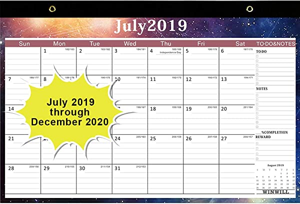 Desk Calendar 2019 2020 Desk Blotter Calendar 2019 2020 17 X 12 Teacher Monthly Desk Pad Calendar Academic Year 18 Month Large Size Ruled Blocks Starry Sky