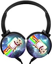 Wired Headset Nyan cat Wired Bluetooth Headphones Unisex Over-Head Hi-Fi Stereo Customized Foldable Headsets