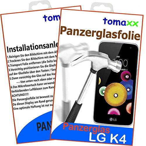 tomaxx Glas Kompatibel für LG K4 (2016) Glas Glasfolie 9H Panzerglas Panzerglasfolie Schutzfolie