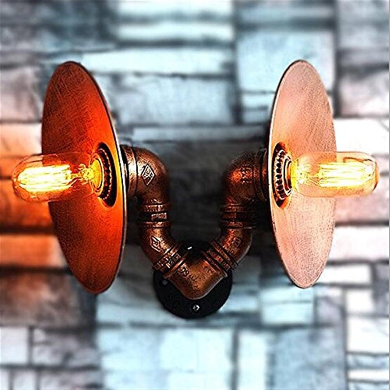 Wandleuchte Retro-Wandleuchte, Industrial Style Wandleuchte Verstellbare Wandleuchte Eisen Wandleuchte Schlafzimmer Bar Restaurant Cafe Club Wandleuchte Braune Farbe Doppelkopf E27 Lampenfassung 21  B07K2YTFDZ     | Die erste Reihe von umfassenden Spezifi